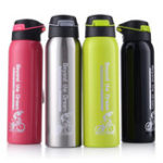 New Portable 304 Stainless Steel 500ML Drink Water Bottle Insulated With Straw Water Bottle