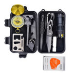 New IPRee® 10 In 1 EDC Outdoor Survival Tools Kit Case Camping Emergency First Aid Box