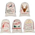 New Large Christmas Decorations Canvas Santa Gift Bag Sack Express Delivery Present Stocking Bag