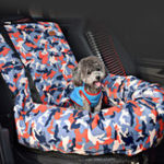 New Camouflage Cage Car Copilot Seat Pet Mat Bag Travel Seat Dog Protector Carrier Cushion Pad