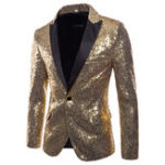 New Mens Sequin Dress Suit Palace Wedding Banquet Stage Blazer