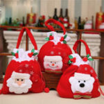 New Christmas Tree Santa Claus Snowman Pattern Candy Bag