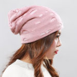 New Men Women Winter Plush Kint Beanie Cap Earmuffs Ski Skullcap