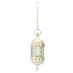 New Vintage Tea Light White Candle Holder Moroccan Hanging Glass Lantern Home Decor