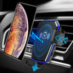 New Universal Qi Wireless 10W Fast Charge Gravity Linkage Auto Lock Car Air Vent Holder for Mobile Phone