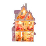 New Large Wooden Kids Doll House Barbie Kit Girls Play Dollhouse Mansion Furniture