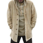 New Mens Vintage Chinese Style Cotton Hooded Plus Size Coats