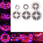 New 0.5M/1M/2M/3M/4M/5M SMD5050 Red:Blue 3:1 Full Spectrum LED Grow Strip Light Plant Lamp