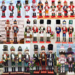 New 38cm Wooden Nutcracker Doll Soldier Vintage Handcraft Action Figure Decoration Christmas Gifts