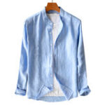 New Mens Cotton Linen Breathable Buttons Casual Shirts