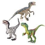 New Velociraptor Dinosaur Toys Educational Model Figure 133 Grey Green For Kids