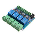 New Modbus RTU 4 Channel Relay Module 4CH Input Optocoupler Isolation RS485 MCU For Arduino