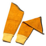 New 1 Pair Cow Leather Welding Sleeves With Elastic Cuff Welder's Gloves Stitched