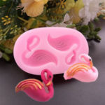 New 3D 2 Swans Flamingo Cake Fondant Silicone Mold Chocolate Cookies Mould DIY Pastry Baking Decorating Tools Bakeware Nonstick