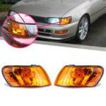 New Parking Corner Light Cover Orange Lens Pair for Toyota Corolla AE100 AE101 E100 1993-1997