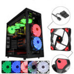 New Coolmoon 12V 120mm 3Pin/4Pin LED Light Cooling Fan Computer PC Cooling Fan