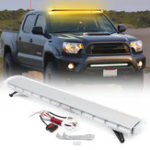 New 55Inch 150W 104 LED Car Strobe Emergency Amber Lights Bar  Beacon Hazard Warning Flash Lamp