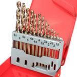 New 13PCS HSS Drilling Bits Twist Drill Bit With Box Titanium Nitride Coated 1.5-6.5mm Bits Set