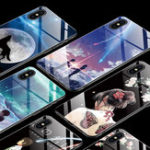 New Bakeey Fashion Pattern Tempered Glass Protective Case For iPhone XS Max