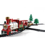 New Christmas Electric Track Train With Sound Music Children Gift Locomotive Model Toys