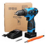 New 32 Gears Electric Drill 25V Cordless Electric Screwdriver Dual Speed Lithium Power Drills Tool