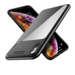 New Bakeey Carbon Fiber Soft TPU Protective Case For iPhone XS Max