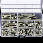 New Suleve™ M6SH2 88Pcs M6 Hex Socket Cap Head Screw Bolts Assortment Set 304 Stainless Steel