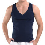 New Men V-Neck Knitting Modal Tank Breathable Comfy Undershirt