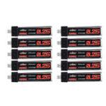 New 10Pcs URUAV 3.7V 250mAh 30C/60C 1S Lipo Battery PH2.0 for Blade Nano QX CPX Tiny Whoop TINY6 6X