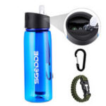 New SGODDE 22.2 OZ Sports Water Bottle BPA Free  with Filter Outdoor Portable Travel