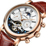 New KINYUED JYD-J018 Calendar Automatic Mechanical Watch