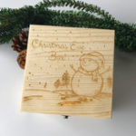 New Wooden Decoration Toys Gift Box Christmas Snowman Painting
