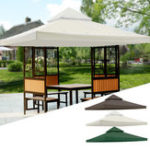 "New 10×10"" Garden Pavilion Terrace Top Canopy Cover Garden Shade Gazebo Patio Tent Sunshade Accessories Replacement"