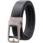 New 125CM Men's Cowhide Automatic Buckle Belt Leather Waistband