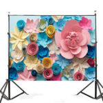 New 7x5FT Colorful Flower Photography Backdrop Studio Prop Background
