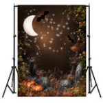 New 5x7FT Black Cat Night Bat Halloween Theme Photography Backdrop Studio Prop Background