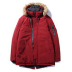 New Mens Winter Thick Warm Padded Faux Fur Hooded Casual Jacket