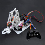 New SNAM5100 DIY Arduino 4DOF Acrylic RC Robot Arm PS2 Stick Control With MG90S Servos