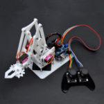 New SNAM5100 DIY Arduino 4DOF Acrylic RC Robot Arm PS2 Stick Control With MG90S Servos