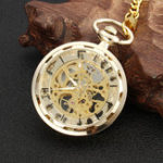 New Mechanical Hollow Skeleton Pocket Watch