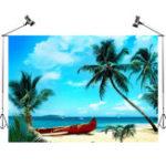 New 7x5FT Sunshine Beach Scenery Photography Backdrop Studio Prop Background
