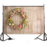New 7x5FT Easter Egg Wood Board Photography Backdrop Studio Prop Background