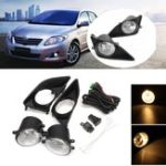 New Car Front Bumper Fog Lights H11 Bulbs Amber with Covers Switch for Toyota Corolla 2008-2010