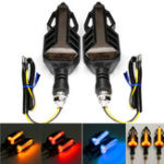 New 12V Motorcycle LED Sequential Flowing Water Running Lamp Turn Signal Lights
