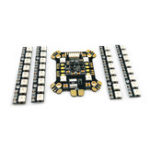 New FLYWOO Power Hub-LED REV1 PDB Built In 5V 9V 2A BEC WS2812 LED & 4 PCS 8 Bits LED Board For RC Drone