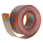 New 5M 1.27mm Pitch Ribbon Cable 34P Flat Color Rainbow Ribbon Cable Wire Rainbow Cable