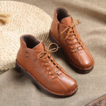 New Genuine Leather Soft Comfy Lining Warm Ankle Short Boots