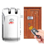 New Remote Control Anti-theft Door Lock Home Wireless Security Access System Set