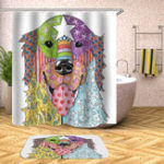 New 180 x 180CM Shower Curtain Dog Pattern Print Waterproof Polyester Bathroom Shower Curtain
