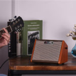 New Aroma AG-15A 15W Acoustic Guitar Amplifier with Mic Interfaced Ultra-Efficient Class D Amplifier
